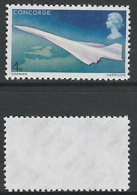 Great Britain (899) 1969 CONCORDE 4d Missing orange - a Maryland FORGERY unused