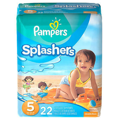 New Pampers Splashers Size 5 Swim Pants - 22 Count Model:9147458