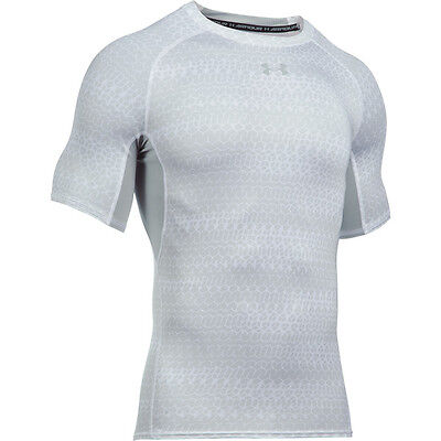Under Armour Heatgear Compression Printed Short Sleeve Shirt white 1257477-103