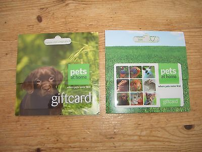 Two Pets at Home gift cards,vouchers credit notes, total £89.00