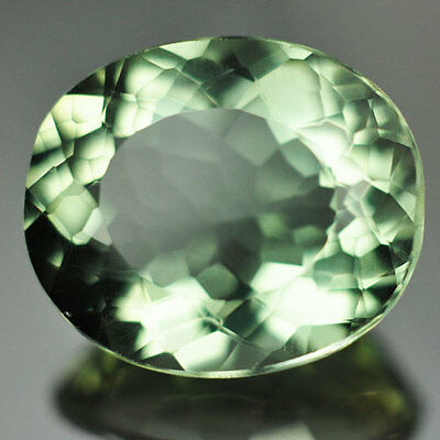 11.45ct.AWESOME AFRICA GREEN  AMETHYST OVAL GEMSTONE