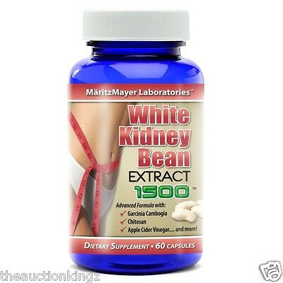 White Kidney Bean Extract Garcinia Cambogia Carb Blocker #1 For Weight Loss 60ct