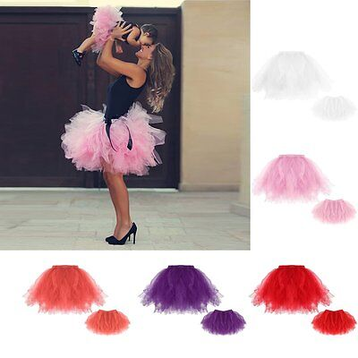 Adult Tutu Skirt Women Baby Girls Ballet Party Pettiskirt  Dancewear Skirt Dress