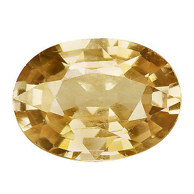 1.895Cts Glorious Luster Brown Yellow Natural Zircon Oval Loose Gemstones