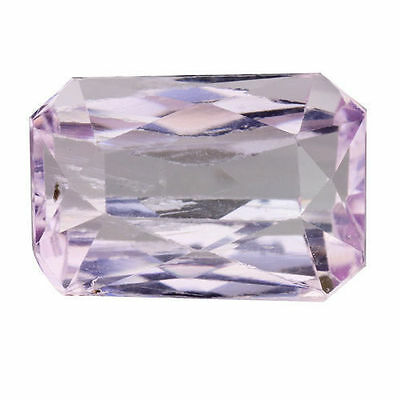 4.335Cts Wonderful Luster Soft Pink Natural Kunzite Octagon Loose Gemstones