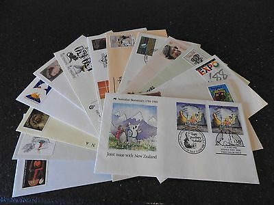 Australia 13 First Day Covers Open Envelopes In Good Used Condition