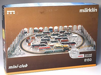 """8150 Marklin Z-Scale """"Railroad Museum"""" Starter Set in new condition with a Br89"""