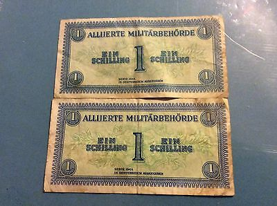 2 X 1 Schilling From Allied Military 1944 In Austria
