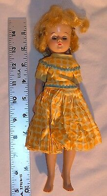 Vintage Vogue Jill Doll With Sleep Eyes Jointed Legs Has Ideal Dress Blonde Hair