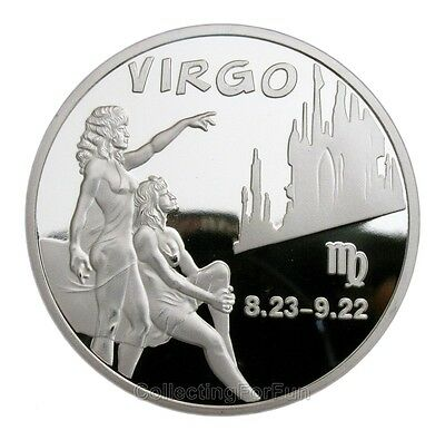 Astrological Sign Virgo (8.23-9.22) Constellation Silver Coin for Birthday Gift