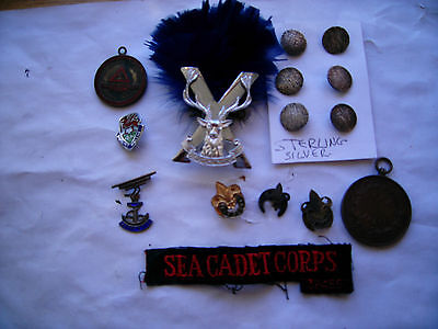 Bargain Lot Scout Butlins Army  Buttons Etc