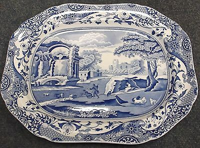 Spode Blue Italian Large Meat Serving Platter 16 Inches.    To