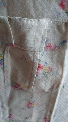 SWEET ANTIQUE FRENCH GIRLS  DRESS c1940 PETITE FLORALS FOR CUTTING - ATTIC FIND