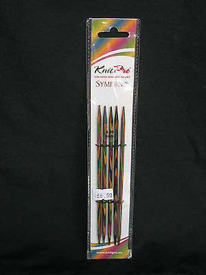 KNITPRO SYMFONIE WOODEN DPN SOCK NEEDLES 4mm 15cm LENGTH NEW IN PACK FREEPOST