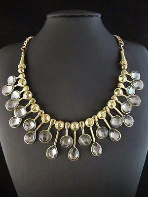Fashion Golden Gray Resin Bead Pendant Necklace Chains Jewlery PNA589