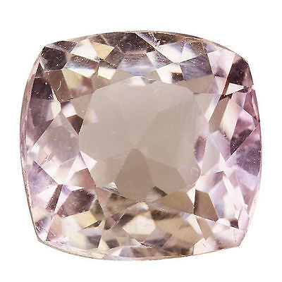 5.205Cts Fantastic Luster Soft Pink Natural Kunzite Cushion Loose Gemstones