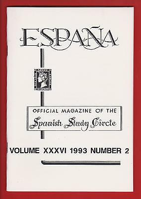ESPANA – Vol. 36 No. 2 1993 See Description