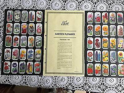 Collectors Society Wills Garden Flowers Reproduction Set