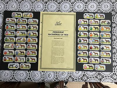 Collectors Society Hignett Bros  Prominent Racehorses of 1933 Reproduction Set
