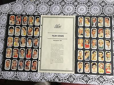 Collectors Society Players Film Stars 1938 Reproduction Set