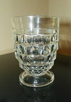 """Pair Vintage Whitehall-Clear 9 Oz """"Footed Tumblers~Glasses"""" Fostoria~Colony"""