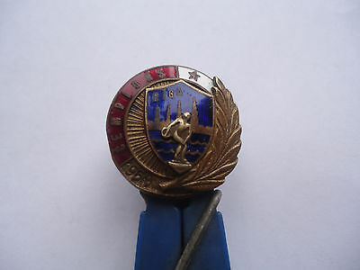 1959 Riga  Ussr Champion  Sports Pin Badge, Enamel Heavy