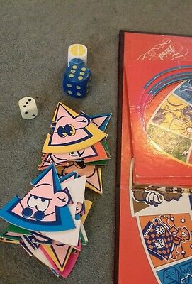 TRIVIAL PURSUIT JUNIOR edition SPARE PARTS: dice, cardboard sections; game board