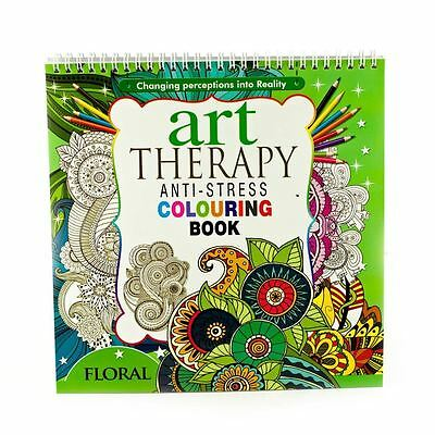 Adult Colouring Therapy Anti-Stress Art Colouring Book Relax 100 pages Floral