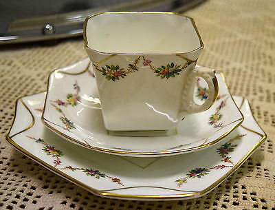 Antique Trio SB & Son Sampson Bridgwood c1880s Teacup Saucer Plate Vintage