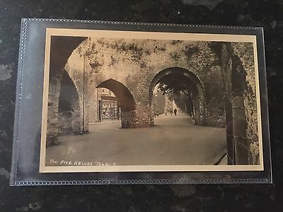 Tenby - The Five Arches.  Squibbs Card