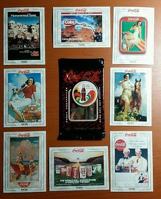 1993 Coca Cola Collectors Cards Opened Box Unsealed  Series 1 # 013
