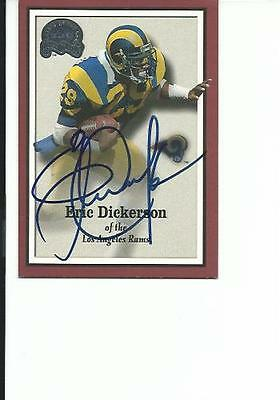 Eric   Dickerson   Rams     Autographed    Card