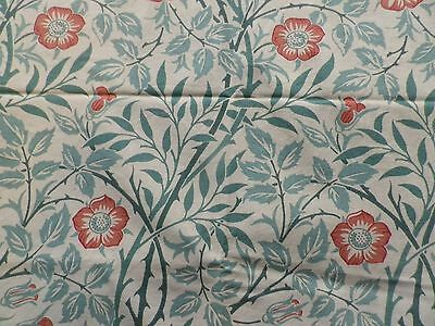 Vintage Sanderson Cotton Fabric Offcut 'Sweet Briar' by William Morris'