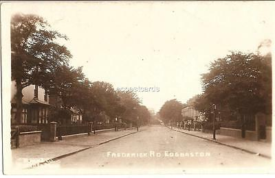 Old Real Photo Postcard by Mower & Co Frederick Rd Edgbaston Birmingham 1928