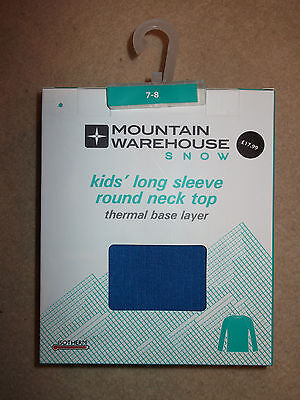 Mountain Warehouse Kids Long Sleeve Round Neck Top Age 7-8 Years New In Box