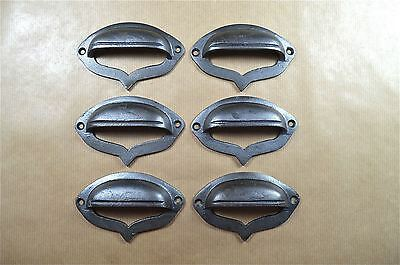 A set of 6 Gothic cast iron drawer pull furniture handle cabinet pull ALR21