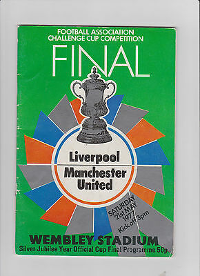 1977 F.A.Cup Final.Liverpool v Manchester United.