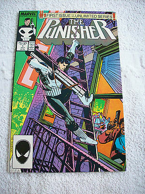 The Punisher #1 (Jul 1987, Marvel) White Pages UNREAD!