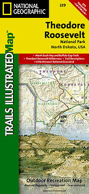 Trails Illustrated Map: Theodore Roosevelt National Park Map #259