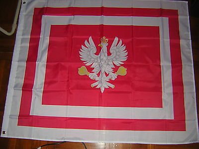 100% NEW Reproduced Flag of Marshal of Poland Standard Polish Ensign 120X120 cm