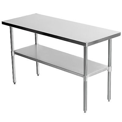 "60"" x 24"" Commercial Stainless Steel Work Bench Kitchen Catering Table 5x2FT New"