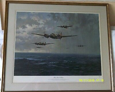 The First Blow. Signed Large Limited Edition Gerald Coulson Print. 611/1089