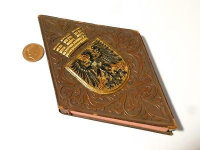 Antique Imperial German COAT OF ARMS Embossed Lozeng Note Book & HC KURZ Pencil