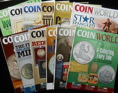 12x Full Year 2012 COIN WORLD Magazine Back Issues Investing Collecting Rares