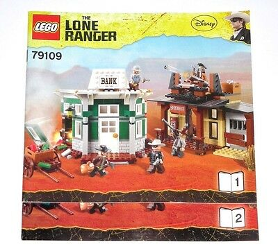 LEGO The Lone Ranger Colby City Showdown ORIGINAL INSTRUCTIONS ONLY 79109