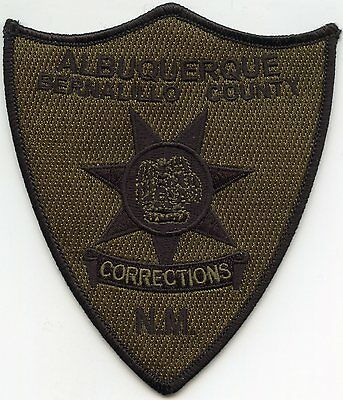 ALBUQUERQUE BERNALILLO COUNTY NEW MEXICO NM subdued DOC CORRECTIONS POLICE PATCH