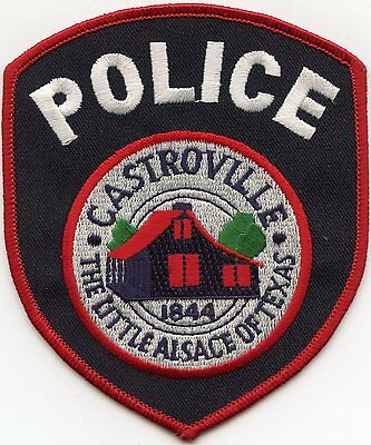CASTROVILLE TEXAS TX The Little Alsace of Texas POLICE PATCH
