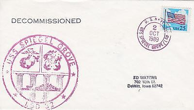 Uss Spiegel Grove Lsd-32 Decommissioned Naval Topical Ship Cover Military