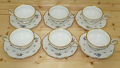 """Hutschenreuther The Mayfair (6) Cups, 2 1/4"""" & (6) Saucers, 6 1/4"""""""