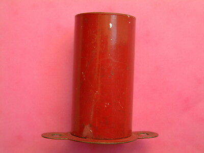 Vintage Meccano red ship's funnel. 5 cm tall, part no.138